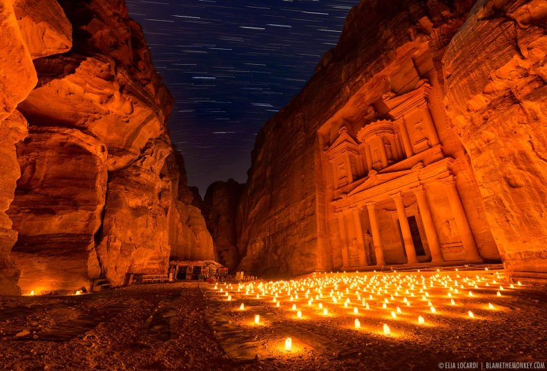 Time Stands Still - Petra By Night - Jordan